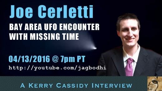 JOE CERLETTI – BAY AREA UFO ENCOUNTER WITH MISSING TIME
