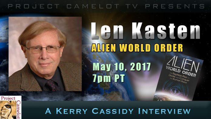 Len Kasten Alien World Order Guest Wed Night 7pm Pt