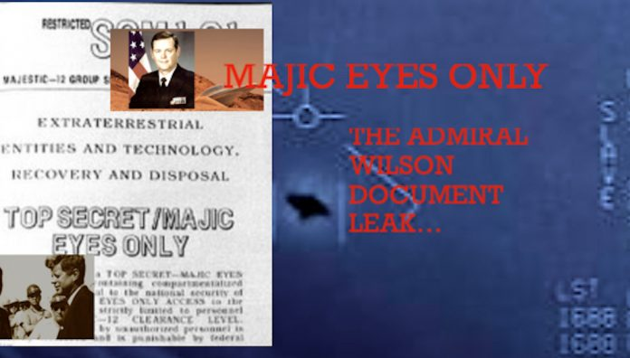 UFOS: WILSON LEAK: ADMIRAL WILSON – CONTROLLED DISCLOSURE