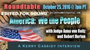 ANNA VON RETIZ and ROBERT HORTON:  WE THE PEOPLE – SOUND EDITED