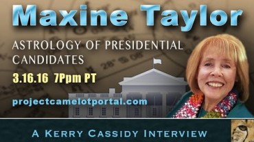 KERRY INTERVIEWS MAXINE TAYLOR RE ASTROLOGY OF PRESIDENTIAL CANDIDATES