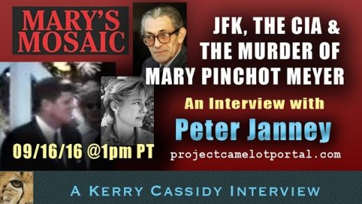 INTERVIEW WITH PETER JANNEY:  AUTHOR MARY'S MOSAIC RE JFK, CIA AND DEATH OF MARY MEYER