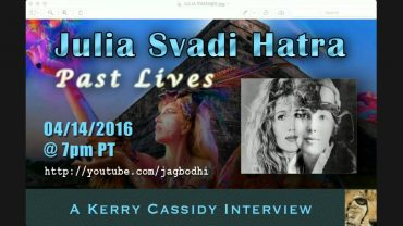 KERRY INTERVIEWS JULIA SVADI HATRA RE PAST LIVES, AMELIA EARHART