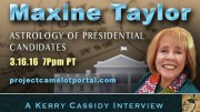 MAXINE TAYLOR – RE ASTROLOGY OF PRESIDENTIAL CANDIDATES