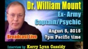 PROJECT CAMELOT :  DR WILLIAM MOUNT – EX-ARMY CAPTAIN / PSYCHIC