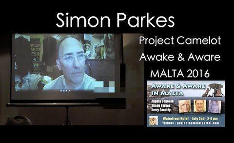SIMON PARKES VIA SKYPE AT AWAKE & AWARE MALTA