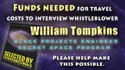 WILLIAM TOMPKINS INTERVIEW – FUNDS NEEDED